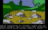 Winnie the Pooh in the Hundred Acre Wood DOS Rocks. (CGA composite mode)