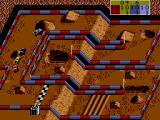 Ivan 'Ironman' Stewart's Super Off Road SEGA Master System down the stretch