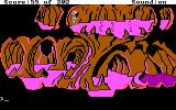 Space Quest: Chapter I - The Sarien Encounter DOS Underground tunnel. Watch out for acid drops! (EGA/Tandy)