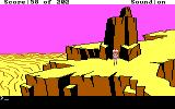Space Quest: Chapter I - The Sarien Encounter DOS Rock formation. (EGA/Tandy)