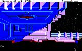 Space Quest II: Chapter II - Vohaul's Revenge Apple IIgs Start of the game. Roger's doing a little bit of cleaning outside the space station.