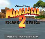 Madagascar: Escape 2 Africa PlayStation 2 Title screen.