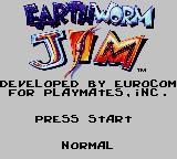 Earthworm Jim Game Gear Title Screen