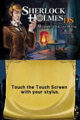 Sherlock Holmes DS and the Mystery of Osborne House Nintendo DS Title screen