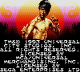Dragon: The Bruce Lee Story Game Gear Title/Credits Screen