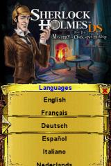 Sherlock Holmes DS and the Mystery of Osborne House Nintendo DS Choose your language