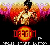 Dragon: The Bruce Lee Story Game Gear Title Screen