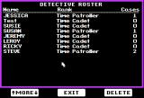 Where in Time is Carmen Sandiego? Apple II Detective roster.