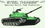 Steel Thunder Commodore 64 Title