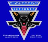 Flight of the Intruder NES Title Screen