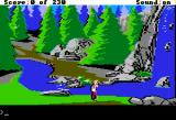 King's Quest IV: The Perils of Rosella Apple II Waterfall.