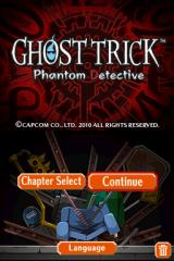 Ghost Trick: Phantom Detective Nintendo DS Menu