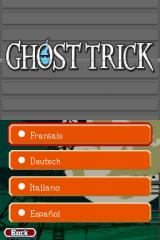 Ghost Trick: Phantom Detective Nintendo DS Choose your language (English is not displayed since it's already in use)