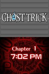 Ghost Trick: Phantom Detective Nintendo DS The current time is displayed in each chapter