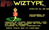Wizard of Id's WizType DOS Title screen (CGA with RGB monitor)