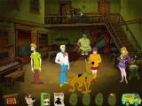 Scooby-Doo!: Show Down in Ghost Town Windows The game's inventory is accessed via the mystery bus in the lower left. It drives across the screen revealing its contents. Here Shaggy won't explore with Daphne until he's fed Scooby snacks