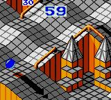 Marble Madness Game Gear Going down the ramp