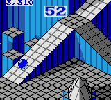 Marble Madness Game Gear Down another ramp