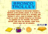 Bronco Trolley Browser Title screen with instructions