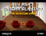 Hey Ash, Watcha Playin'?: The Adventure Game Browser Title screen (with misspelled title)