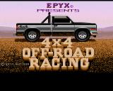 4x4 Off-Road Racing Amiga Title screen.