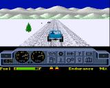 4x4 Off-Road Racing Amiga Winter landscape.