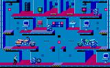 Impossible Mission II DOS Elvin has two motorcycles in this room. (MCGA / VGA)