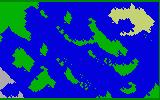 Sea Battle Intellivision Map without any ships