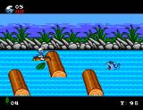 The Smurfs SEGA Master System Out on the river