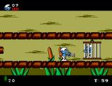The Smurfs SEGA Master System The defeated boss leaves the key for the imprisoned smurf's cage.