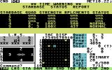 Star Fleet I: The War Begins! Commodore 64 Starbase status report.