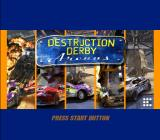 Destruction Derby: Arenas PlayStation 2 Title screen.