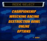 Destruction Derby: Arenas PlayStation 2 Menu screen.