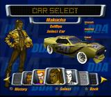 Destruction Derby: Arenas PlayStation 2 Driver selection.