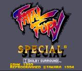 Fatal Fury Special SNES Title screen