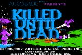 Killed Until Dead Apple II Title screen.