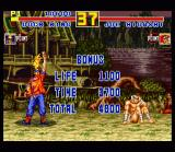 Fatal Fury Special SNES Victory: your performance is rated on the attributes Time & Life