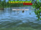 Championship Fishing Windows The player must enter their name in the usual manner.