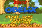 Asterix & Obelix: Bash Them All! Game Boy Advance Menu for Asterix and Obelix