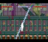 Psycho Dream SNES Maria is hit by a flying boss' attack