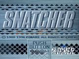 Snatcher SEGA Saturn Title screen A