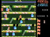 Mr. Do!'s Castle ColecoVision A game in progress