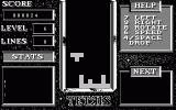 Tetris Atari ST Mirrorsoft version in monochrome. Unfortunately, it doesn't really make use of the higher resolution.