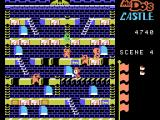 Mr. Do!'s Castle ColecoVision Destroying two skull blocks creates a bridge