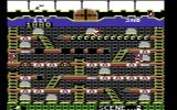 Mr. Do!'s Castle Commodore 64 Destroying two skull blocks creates a bridge