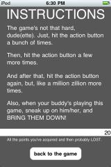 Epic RPG iPhone Instructions