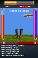 Simple RPG iPhone A more advanced hero, up on level 7.
