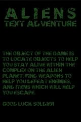 Aliens Text Adventure iPhone Briefing