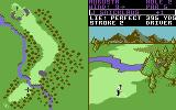 World Tour Golf Commodore 64 Almost landed in the water hazard!