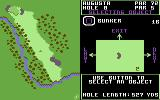 World Tour Golf Commodore 64 Placing some bunkers in the hole editor